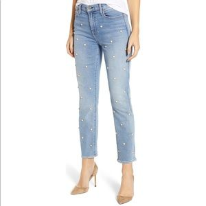 NWT 7 For All Mankind HW Cropped Pearl Jeans
